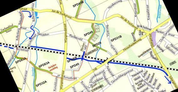 L050A Part 1 Fietsweg langs de lijn L50A Brussel - Denderleeuw Editiepajot_Schepdaal_fietspad_lans_GEN-spoorlijn_foto_Hugo_Marissens__2_