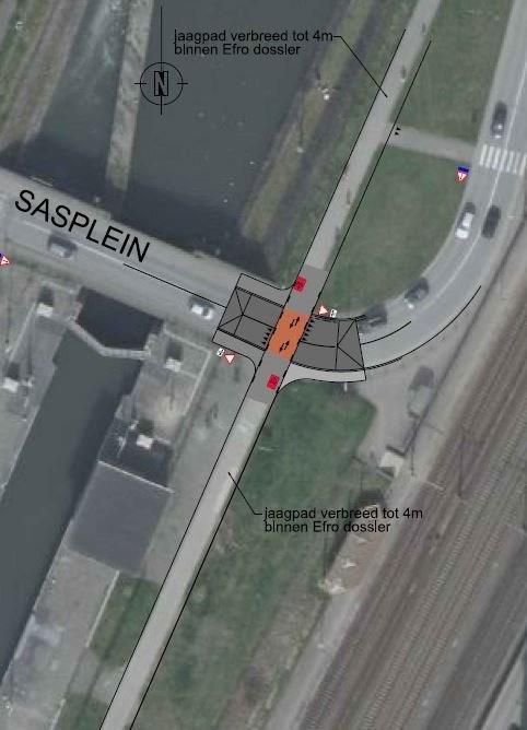 Canal Bruxelles-Charleroi  partie Flamande Halle(Lembeek) - Sint-Pieters-Leeuw - EV5 - Eurovelo 5 - F20 - Page 3 Sasplein_ruisbroek